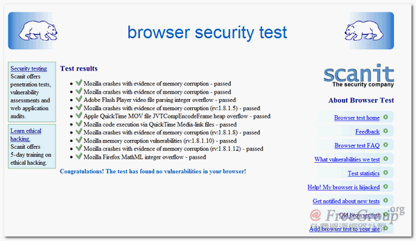 scanit - browser security test