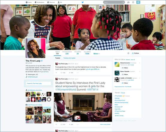 Twitter 新的個人首頁介面