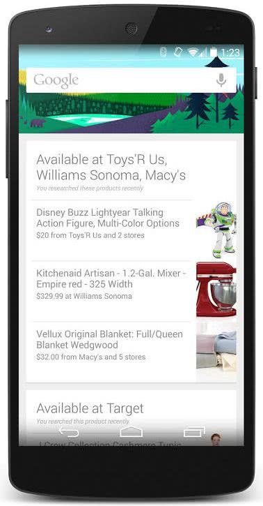 Google Now 的商品提醒